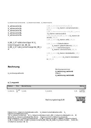 Individuelle Rechnungsformulare - miya Dokumentation - Confluence